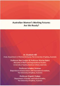 Australian Women's Working Futures report cover